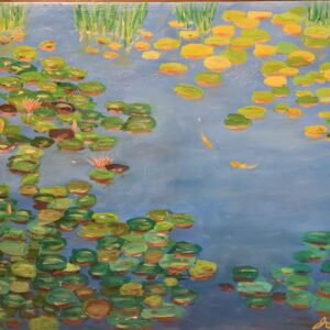 two goldfish oil on canvas - 30 inches x 42 inches - $900